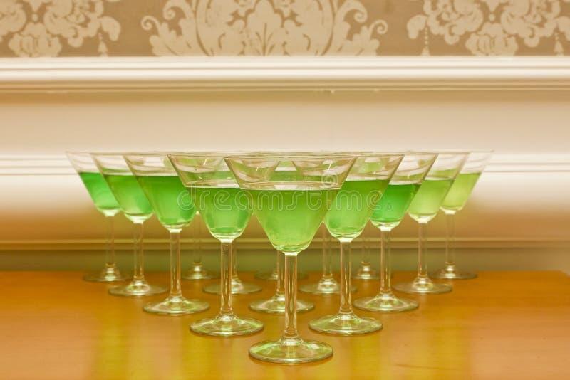 Зеленые коктеили стоковые фото