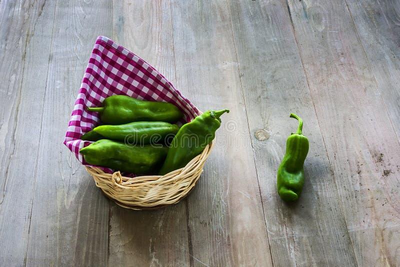 Зеленые перцы стоковое изображение rf