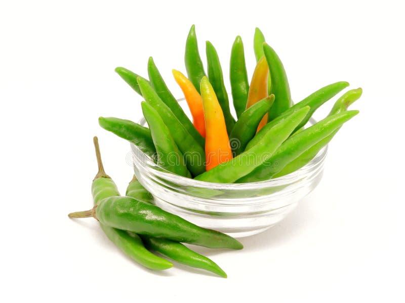 Download Зеленые перцы Chili в стеклянном шаре Стоковое Фото - изображение насчитывающей chilies, перцы: 33728368