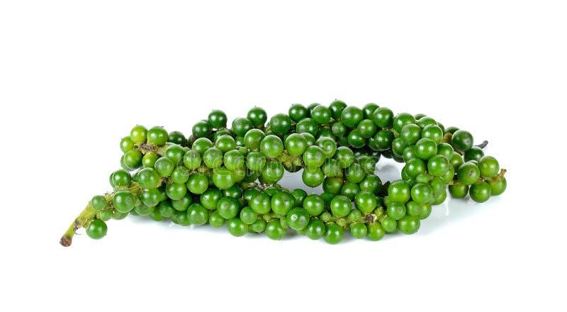 Зеленые перчинки на белой предпосылке стоковые изображения rf