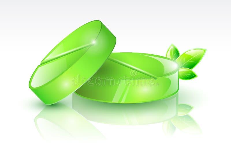 Зеленые пилюльки иллюстрация штока