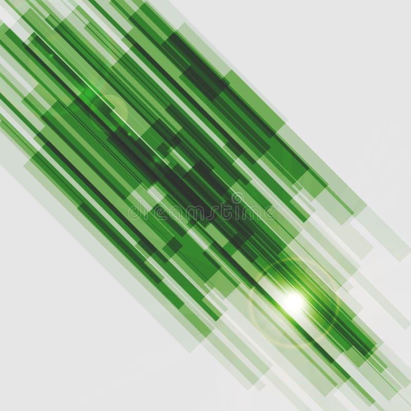 Зеленые прямые линии абстрактная предпосылка иллюстрация штока