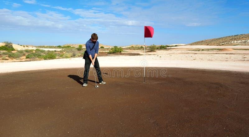 Зеленые цвета гольфа Coober Pedy стоковая фотография rf