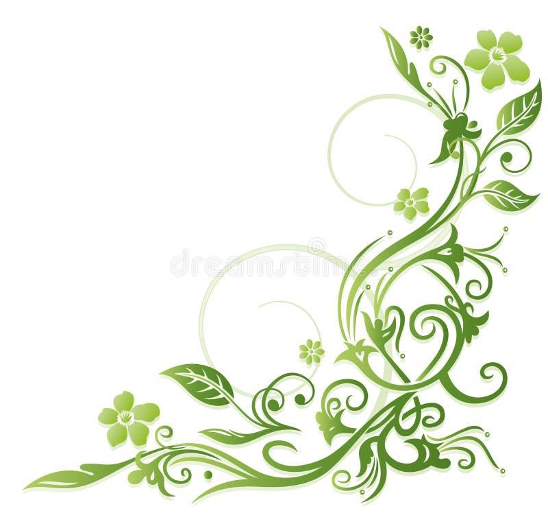 Зеленые цветки иллюстрация вектора