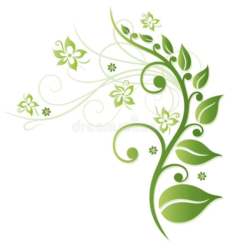 Зеленые цветки бесплатная иллюстрация