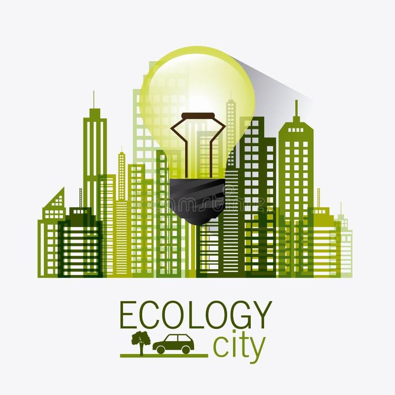 Зеленые энергия и экологичность иллюстрация штока