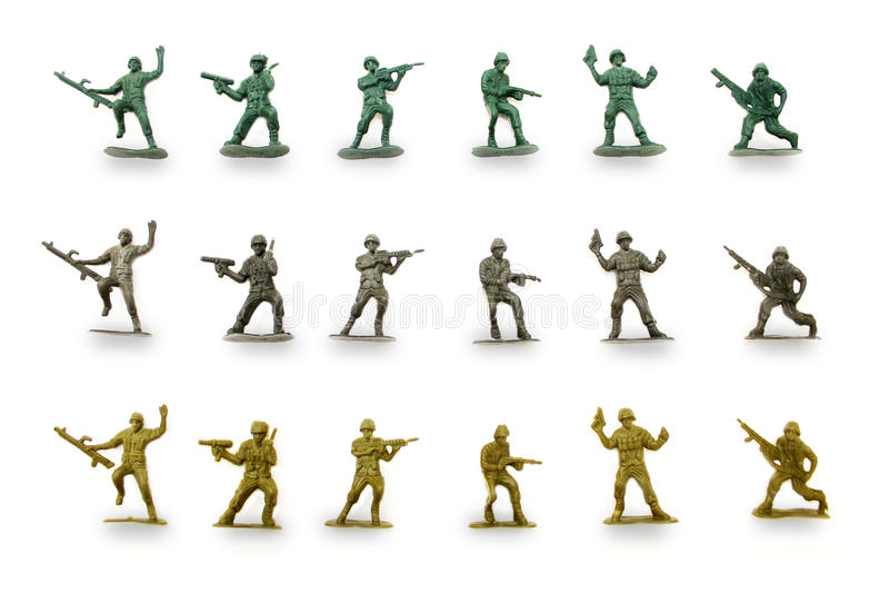 Зеленые люди армии стоковая фотография rf