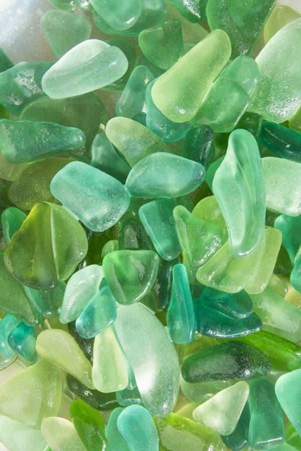 Зеленые seaglass стоковая фотография rf