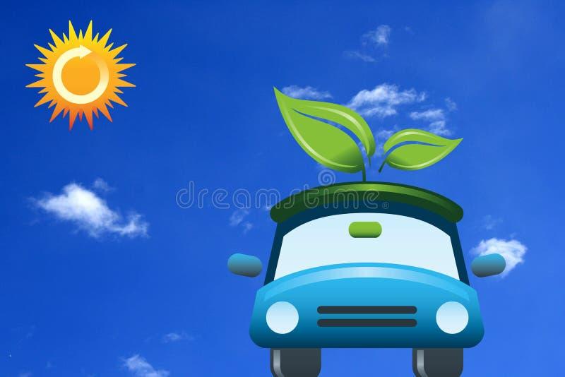 Зеленый автомобиль иллюстрация штока