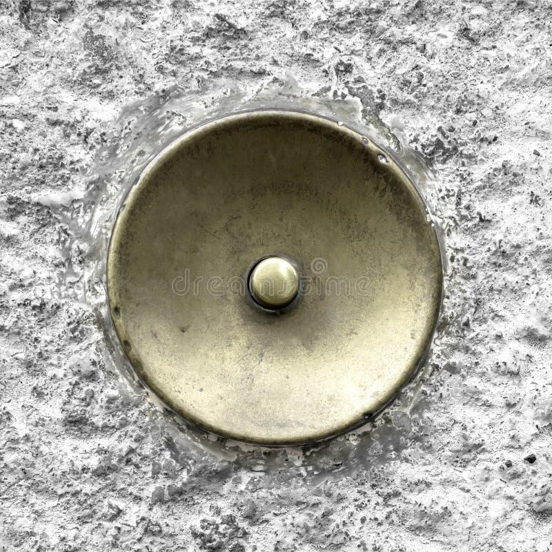 Зеленый латунный дверной звонок стоковое фото