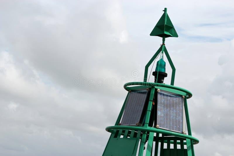 Зеленый боковой томбуй стоковая фотография