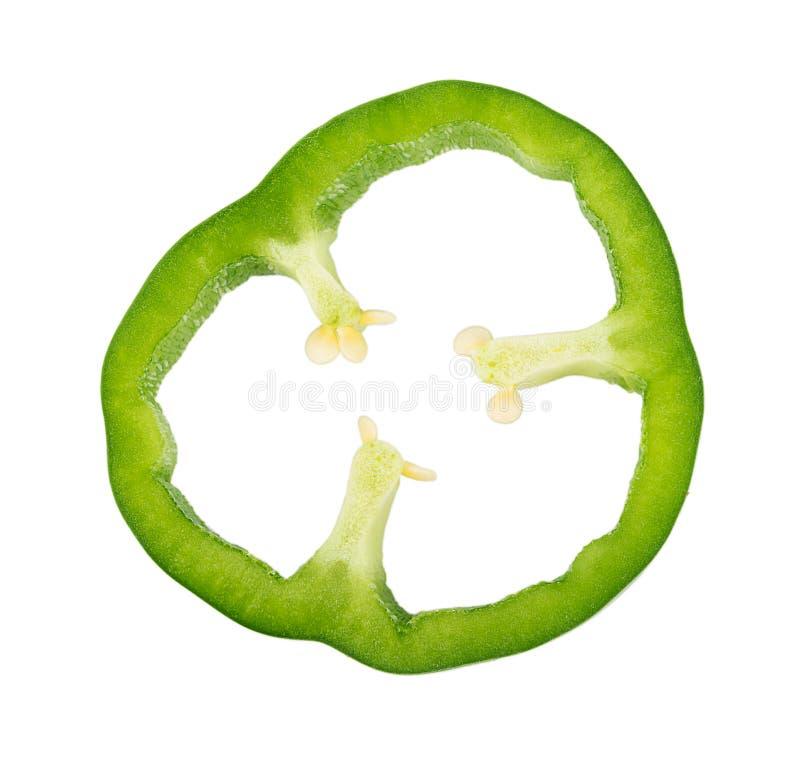Зеленый болгарский перец на белой предпосылке стоковые изображения rf