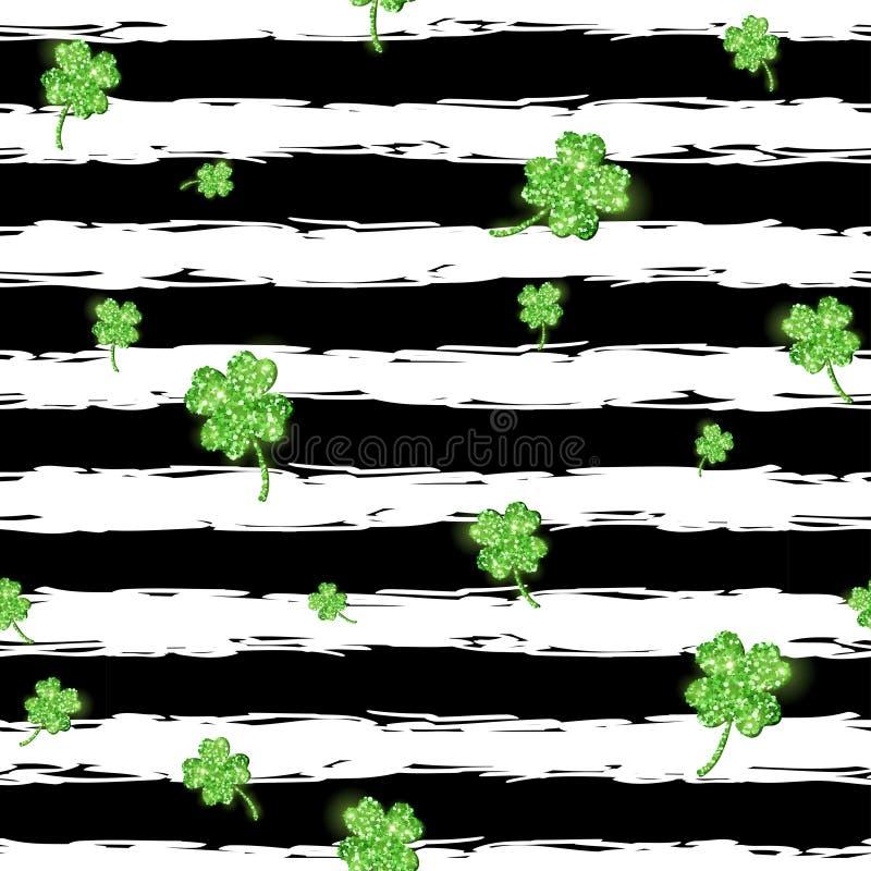 Зеленый блестящий клевер покидает картина иллюстрация штока