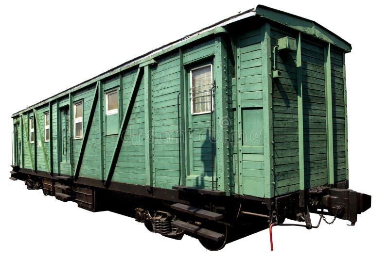 Зеленый вагон пассажира стоковая фотография rf