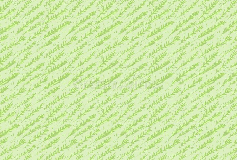 Зеленый вектор выходит безшовная картина для иллюстратора бесплатная иллюстрация