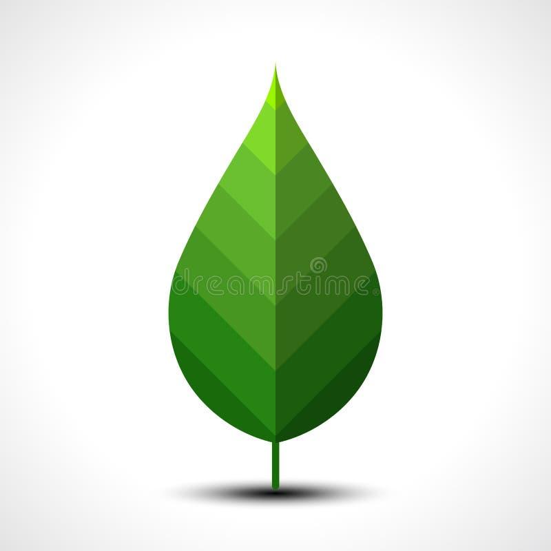 зеленый вектор листьев иллюстрации иконы вихруны мира eco принципиальной схемы иллюстрация вектора