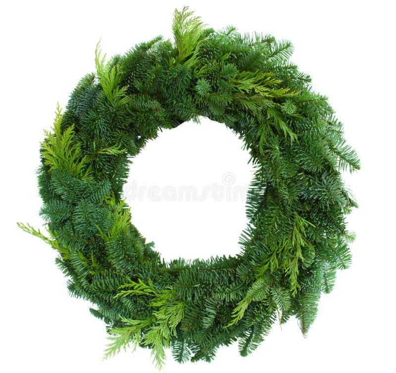 Зеленый венок рождества стоковые фото