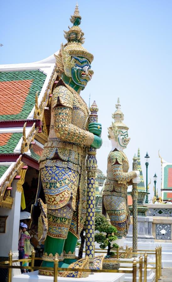 Зеленый гигант Wat Phra Kaew стоковое фото rf