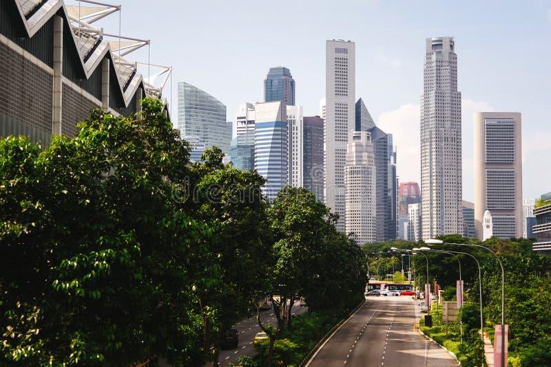 Зеленый город будущего стоковые изображения rf