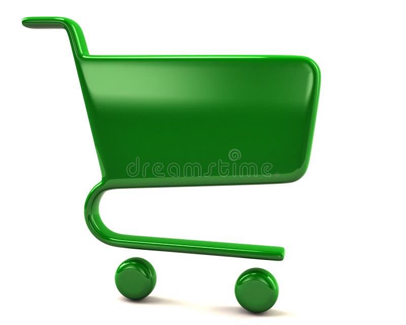 Зеленый значок магазинной тележкаи бесплатная иллюстрация