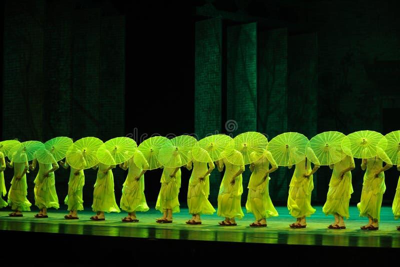 Зеленый зонтик стоковое фото rf
