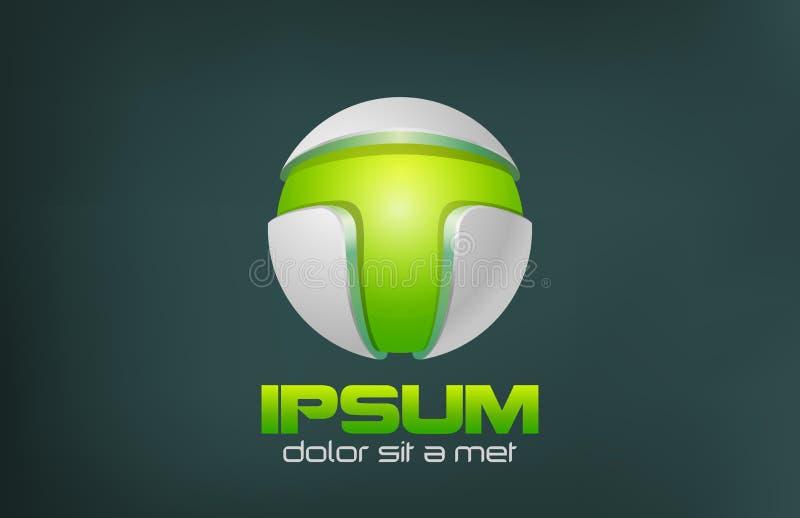 Зеленый дизайн логотипа вектора конспекта технологии. Игра иллюстрация вектора