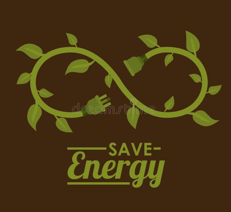 Зеленый дизайн энергии иллюстрация штока