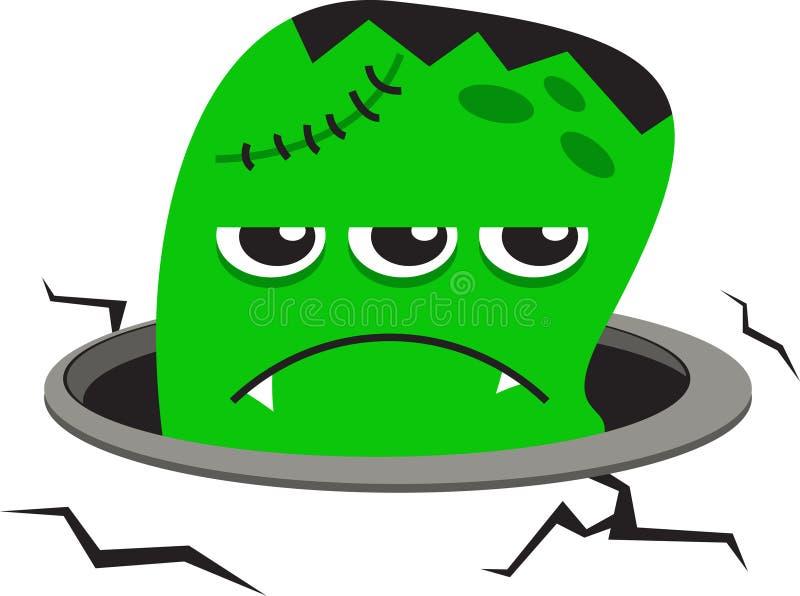 зеленый изверг бесплатная иллюстрация