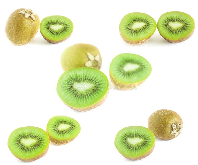 Зеленый изолированный плодоовощ кивиа стоковое изображение