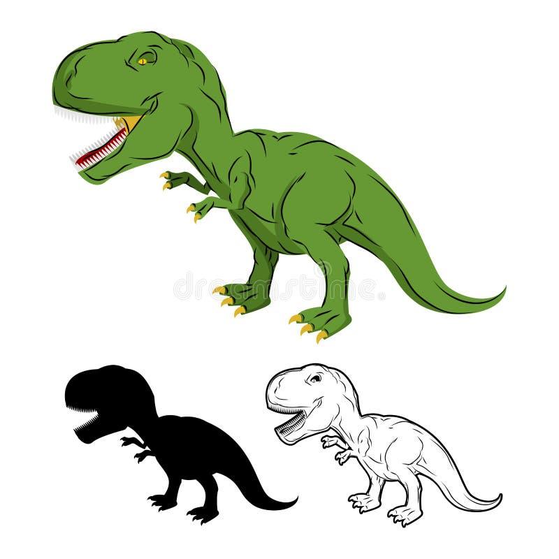 Зеленый исполинский тиранозавр Rex динозавра Доисторический гад бесплатная иллюстрация