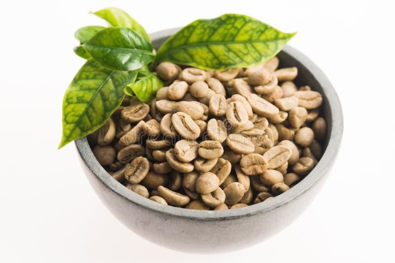 Зеленый кофе стоковые фотографии rf