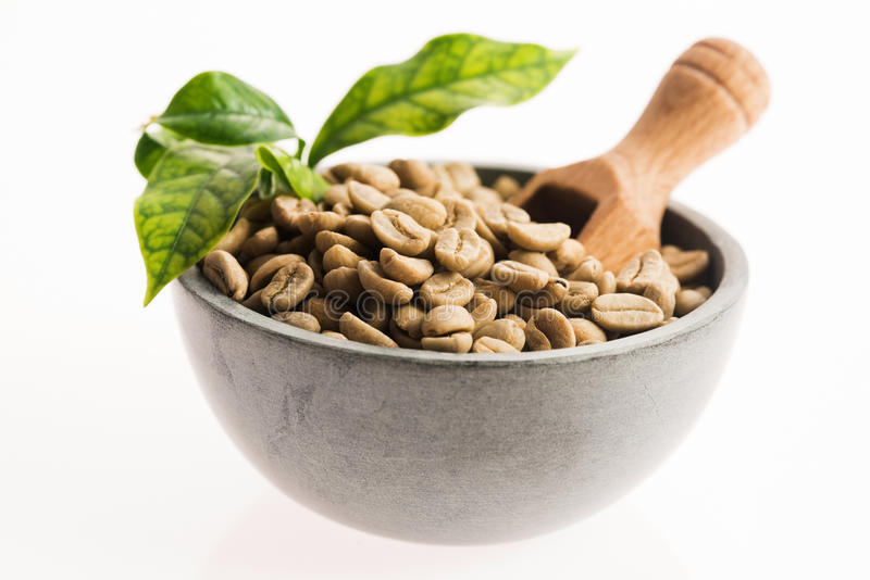 Зеленый кофе стоковые изображения rf