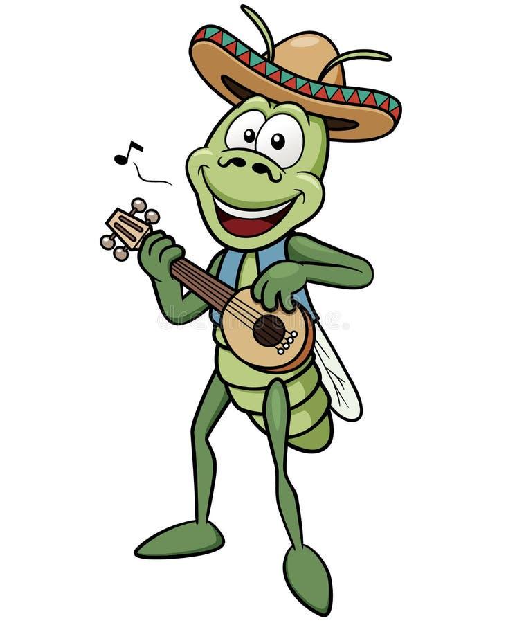 Зеленый кузнечик бесплатная иллюстрация