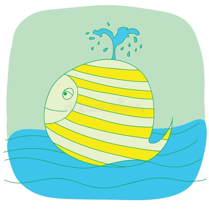 Зеленый малый кит иллюстрация вектора
