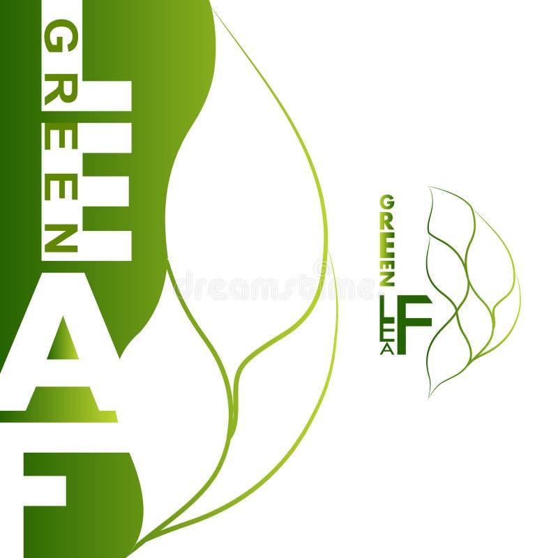 зеленый логос листьев стоковые изображения rf