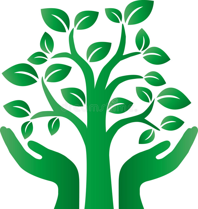 Зеленый логотип дерева environ иллюстрация вектора