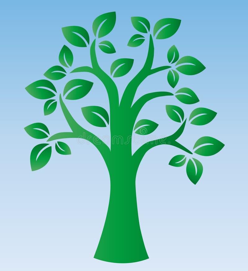 Зеленый логотип дерева environ бесплатная иллюстрация