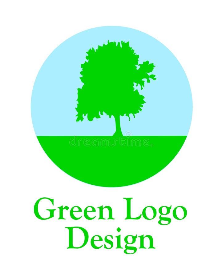 Зеленый логотип. иллюстрация штока
