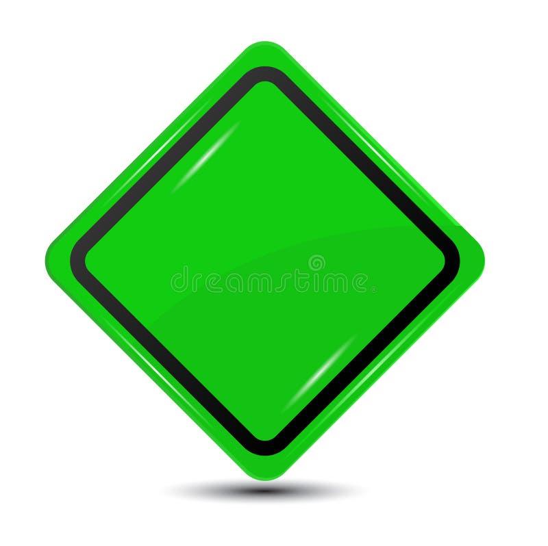 Зеленый дорожный знак, иллюстрация штока