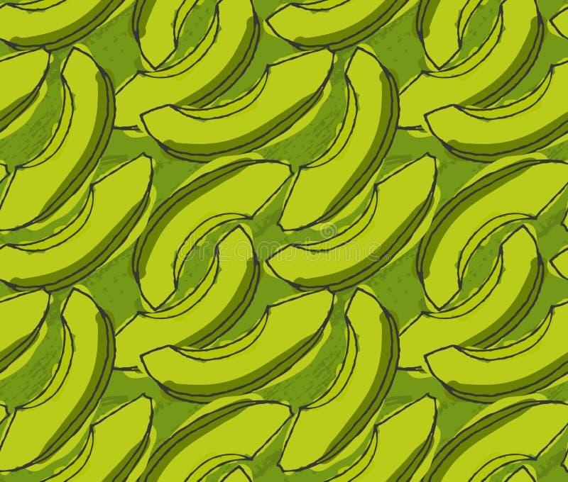 Зеленый отрезанный авокадо иллюстрация штока
