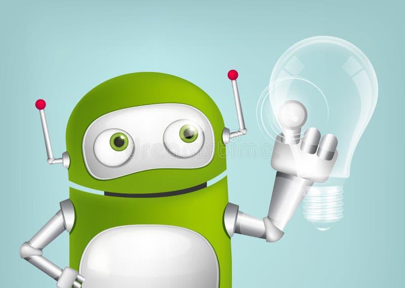 Зеленый робот иллюстрация вектора