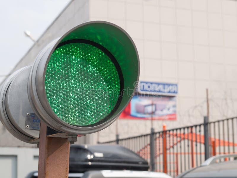 Зеленый светофор стоковые изображения
