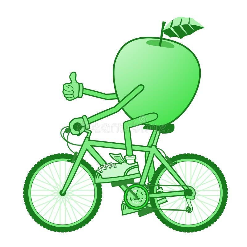 Зеленый спорт яблока бесплатная иллюстрация