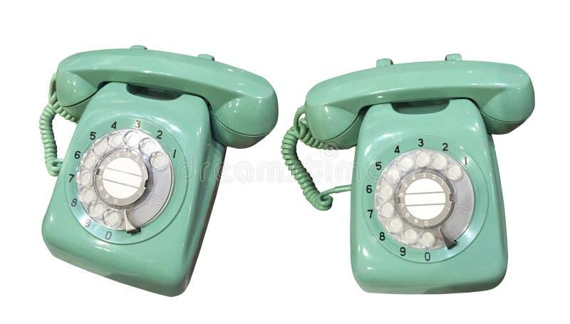 зеленый старый телефон стоковое изображение rf