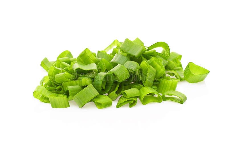 Зеленый лук-порей изолированный на белой предпосылке стоковые фотографии rf