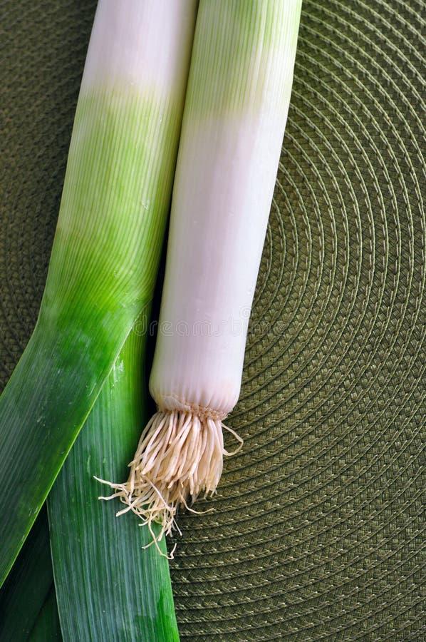 Зеленый лук лук-порея стоковые изображения rf