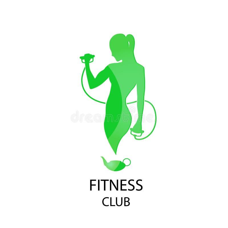 Зеленый фитнес-клуб значка стоковое изображение