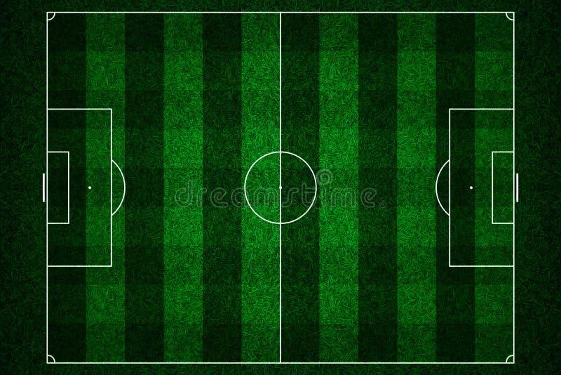 Зеленый футбольный стадион иллюстрация штока