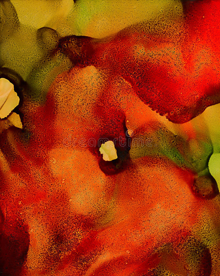 Зеленый цвет абстрактной краски красный прованский сливая текстурированную подачу иллюстрация вектора