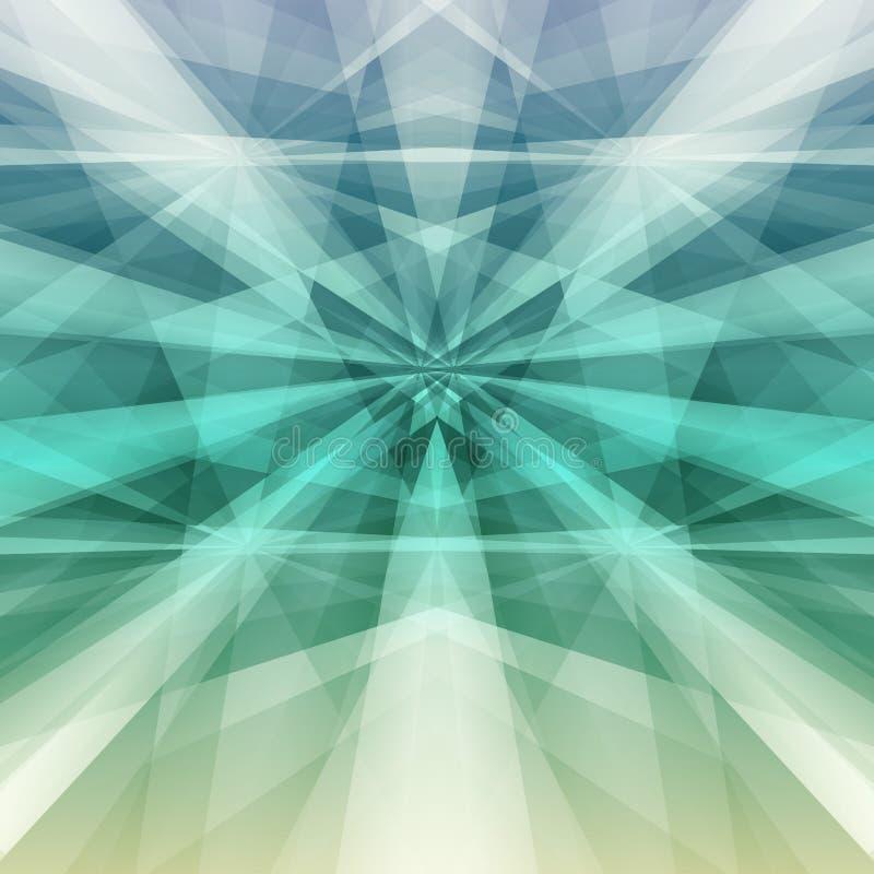 зеленый цвет абстрактной предпосылки геометрический также вектор иллюстрации притяжки corel иллюстрация вектора